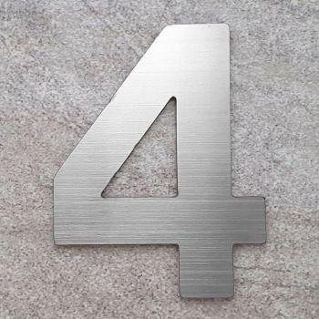 RVS Huisnummer nummer 4- 75 mm