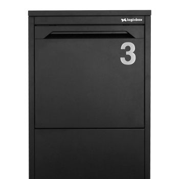 RVS Huisnummer nummer 3- 75 mm