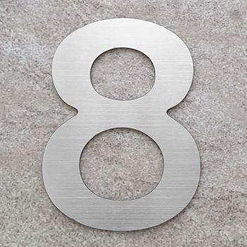 RVS Huisnummer nummer 8- 75 mm