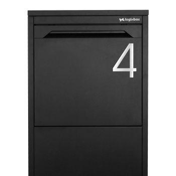 Huisnummer 4 - 3m sticker Light 120mm
