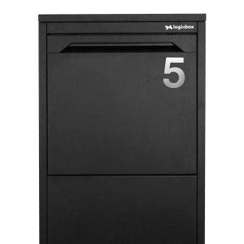 RVS Huisnummer nummer 5- 75 mm