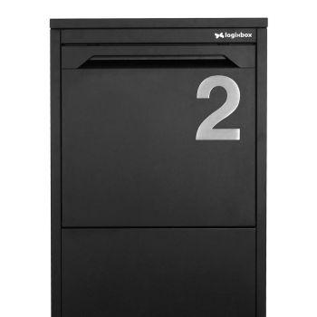 RVS Huisnummer nummer 2- 120 mm